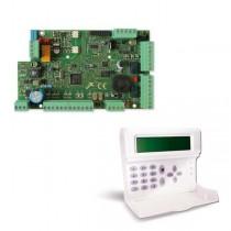 Kit AMC hybride filaire + alarme centrale X824 sans fil à 8 zones + clavier K-LCD KIT197