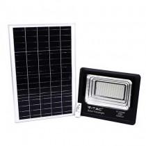 V-TAC VT-300W Faro led 300W autoalimentato nero con pannello solare 50W e telecomando 6000K IP65 – sku 94027