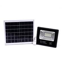 V-TAC VT-40W 40W LED Solarscheinwerfer mit IR-Fernbedienung kaltweiß 6000K Schwarzer Körper IP65 - 94008