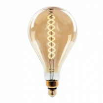 V-Tac VT-2138D 8W LED Bulb Vintage xl A160 double Filament Amber Glass E27 2200K Dimmable – SKU 7461