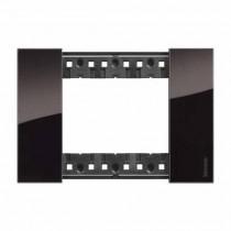 3 modules Bticino Living Now plate night color KA4803DG