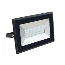 V-TAC VT-4051 50W LED floodlight ultra slim e-series warm white 3000K black body IP65 - SKU 5958
