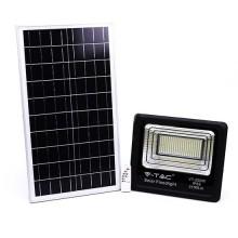 V-TAC VT-200W Projecteur solaire LED 200W avec télécommande IR blanc froid 6000K Corps noir IP65 - 94026