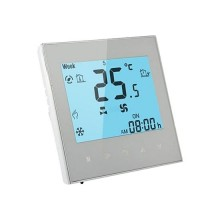 V-TAC Smart Home VT-5888 Wi-Fi Fan Coil Room Thermostat 2-Pipe white recessed works with smartphone - sku 7908