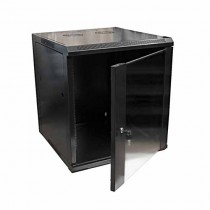 "Hanging Rack Cabinet Black RAL9004 19"" 12U 600mm"