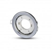 V-TAC VT-715 Portafaretto incasso rotondo cromato per lampade GX53 - SKU 3677