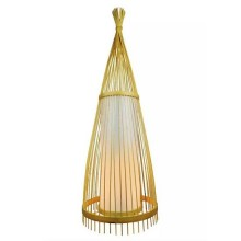 V-TAC VT-4150 Lampada da terra piantana in vero legno rattan con portalampada per lampade E27 - sku 40561