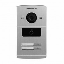 Hikvision DS-KV8202-IM Outdoor IP video doorphone 2 Doorbell button with 1.3mpx cameras and mifare proximity reader IP65