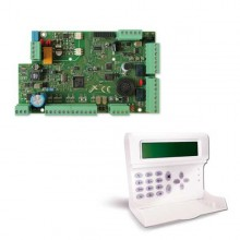 AMC Kit allarme ibrido filare + wireless 8 zone centrale X824 + tastiera K-LCD KIT197