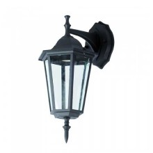 V-TAC VT-750 Garden Wall Klein Lamp IP44 Facing-Down schwarz Körper Holder E27 - sku 7068