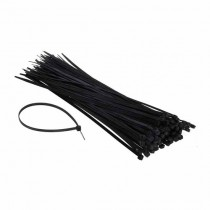 Cable TIE clips for wiring 4.6x300mm Black 100pcs