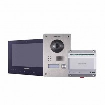 "Hikvision DS-KIS701/EU-B Kit Videocitofonico Monofamiliare 7"" Touch screen 2-Wire Bifilare full hd 1080p fisheye"