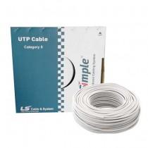 305M Skein câble U / UTP cat 6 LAN AWG 23 cuivre 4x2 PVC 250MHz LSZH 75C