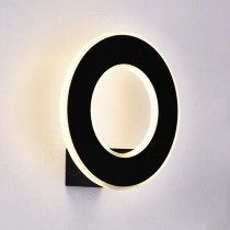 V-TAC VT-710 Lampada LED 9W da parete alluminio nero wall light bianco naturale 4000K IP20 - SKU 8228