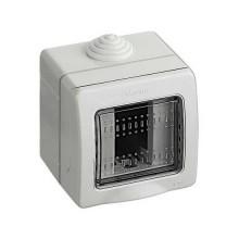 BTICINO 25501 IP55 enclosure Idrobox 1 MATIX module with protection door