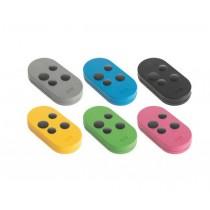 CAME TOPD4FXM Kit 6 télécommandes multicolores - double fréquence 433 E 868 MHZ - 4 canaux