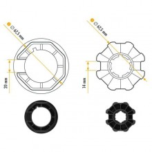 NICE 515.07000 Adattatori serie Era M Ottagonale 70x(1÷1,5) taglia Ø 45 mm ruota + corona
