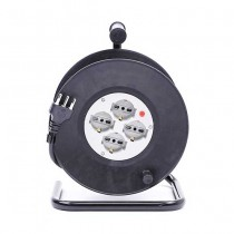 V-TAC 25M Extension Cord Reel Italian standard with outlets 4 Schuko 10/16A Overload Protector - sku 8703