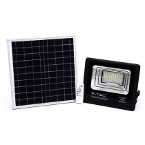 V-TAC VT-60W 60W LED Solar floodlight with IR remote control day white 4000K Black body IP65 - 8575