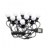 V-TAC VT-70510 0,5W bulb led string light cold white 6000K connectable PIN 5M with bulb eu plug - sku 7437