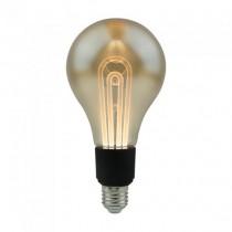 V-Tac VT-2235 5W LED Bulb Vintage G100 linear Filament Amber Glass E27 2200K – SKU 2748