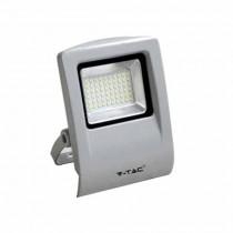Faro LED SLIM 30W 6000K 90° 2400LM Alluminio grigio lucido IP65
