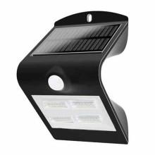 V-TAC VT-768 3W LED solar wall light with PIR sensor 3000K+4000K black body IP65 - sku 7528