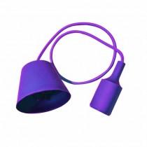 Plafond Titulaire Pendentif Ampoule E27 1M - Mod. VT-7228 SKU 3483 - Violet