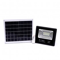 V-TAC VT-40W 40W LED Solar floodlight with IR remote control cold white 6000K Black body IP65 - 94008