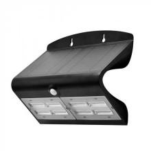 V-TAC VT-767-7 7W LED solar wall light for external IP65 + PIR sensor black color - SKU 8279