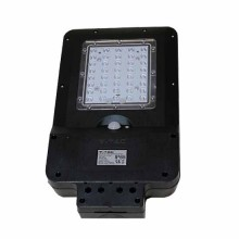 V-TAC VT-ST15 Réverbère LED 15W avec panneau solaire et sensor corps noir IP65 blanc froid 6400K - sku 8548