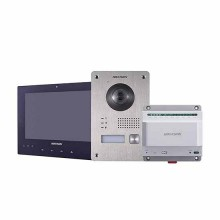 "Hikvision DS-KIS701/EU-B Kit Interphone vidéo 7"" écran tactile Famille unique 2 fils camera full hd 1080p fisheye"