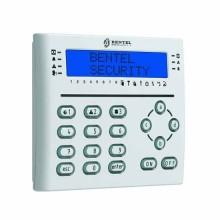 Bentel absoluta T-WHITE clavier lcd blanc avec lecteur de proximité et terminaux I/O