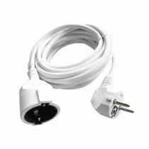 V-TAC VT-3001-3 Prolongateur rallonge électrique schuko 16A EU standard câble blanc 3m - sku 8778