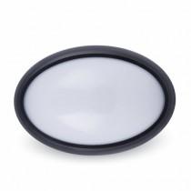 Lampada LED 8W Ovale Nero Esterno IP66 4000K 560LM 120° A