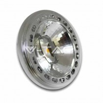 V-Tac Faretto Spot LED AR111 G53 15W 12V Chip Sharp 20° VT-1110 SKU 4061 luce bianco freddo