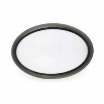 Lampada LED 12W Tutta Ovale esterno IP66 110° 840L Mod. VT- 8010 SKU 1269 - bianco freddo 6400K - Nero