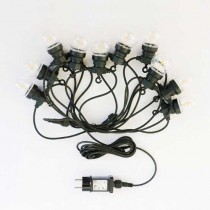 V-TAC VT-70510 0,4W bulb led string light filament warm white 3000K connectable PIN 5M with bulb eu plug - sku 2728