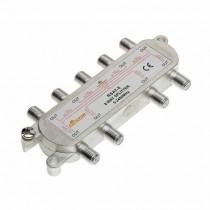 Ripartitore sdoppiatore Splitter TV CAV SAT 15 dB 1 IN 8 OUT Moltiplicatore antenna digitale 5-2300MHz