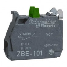 ZBE101 Contact element - Contact block 1 N / A Ø22, Scheneider screw terminals