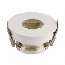 V-TAC VT-873 GU10-GU5.3 Fitting White+Gold round 15°Adjustable twist to open for Spotlights - SKU 3158