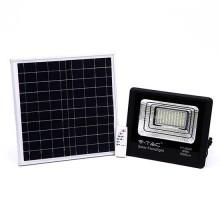 V-TAC VT-60W 60W LED Solar floodlight with IR remote control day white 4000K Black body IP65 - 8575