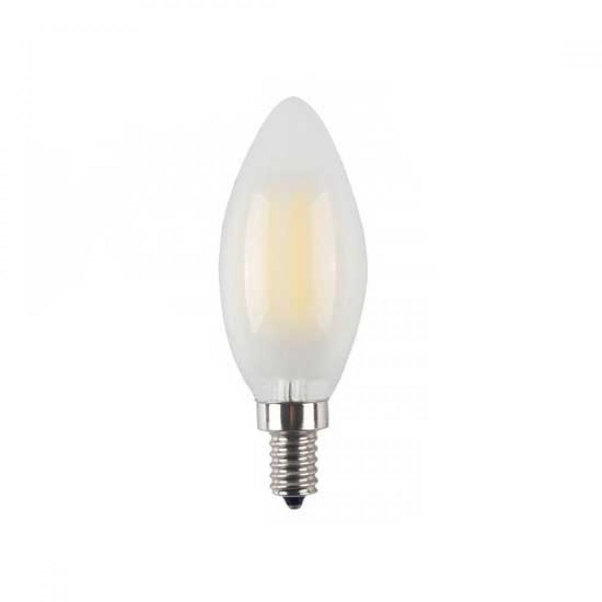 Lampadina led V-TAC dimmerabile 4W E14 bianco caldo 2700K VT-2054D candela VTAC