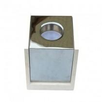 V-TAC VT-860 Gypse blanc carré en béton montage en surface avec métal en chrome pour Spotlights 1xGU10-GU5.3 - sku 3116