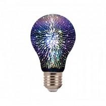 V-TAC VT-2203 3W LED Bulb E27 A60 warm white 3000K 3D light effect Chrome Glass - SKU 2704