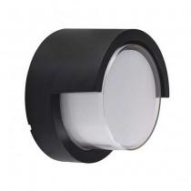 V-TAC VT-827 12W wall light day white 4000K round black body IP65 waterproof - sku 8538