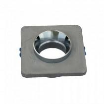 V-TAC VT-862-CHG plafond carré plâtre gris avec bague en chrome pour led GU10-GU5.3 - SKU 3120