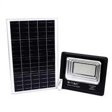V-TAC VT-300W 300W LED Solarscheinwerfer mit IR-Fernbedienung kaltweiß 6000K Schwarzer Körper IP65 - 94027