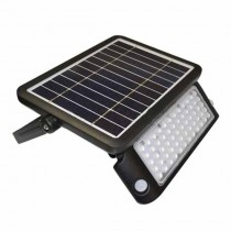 V-TAC VT-787-10 10W solar led floodlight with sensor slim black body day white 4000K - sku 8550