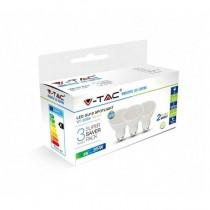 KIT Super Saver Pack V-TAC 3PCS/PACK Lampadine SPOT LED faretto 5W GU10 VT-2095 - SKU 7270 Bianco Naturale 4000K